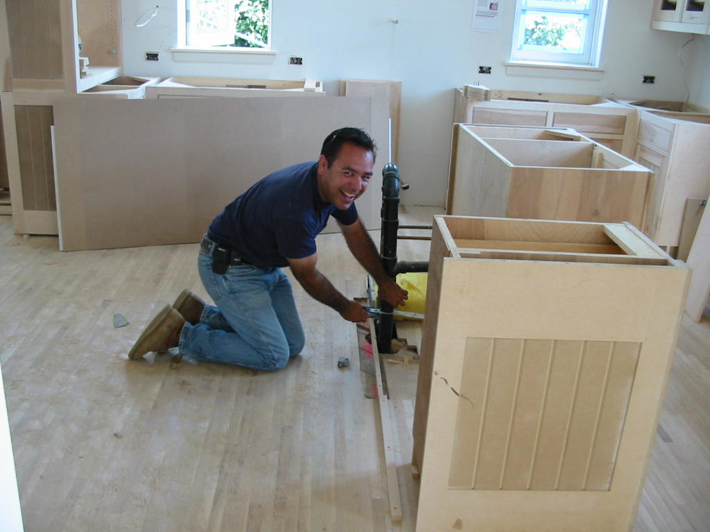 Santa Monica Gut Remodel - happy tradespeople !