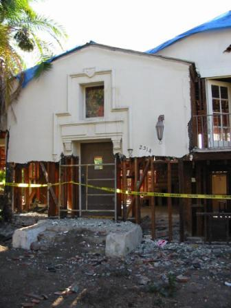Demolition of the old