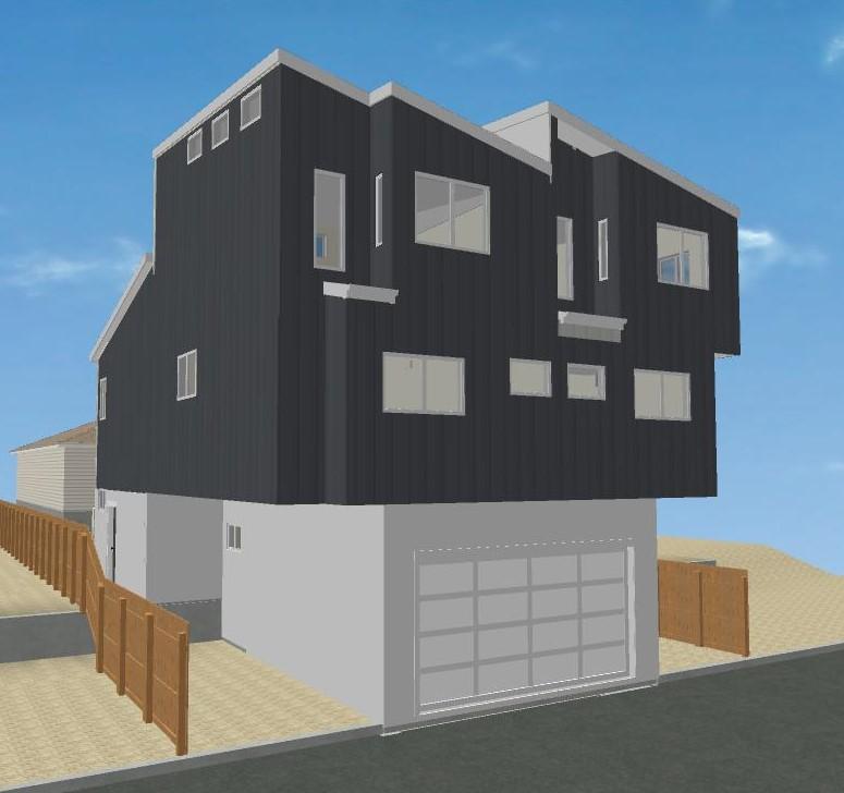 Santa Monica Remodel Preliminary studies for siding