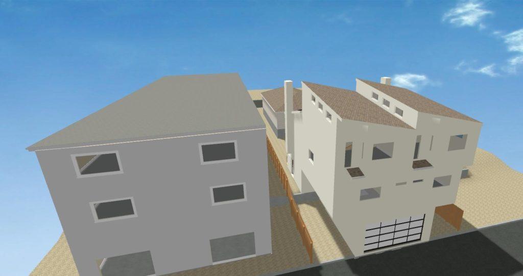Santa Monica Remodel - exterior as built study